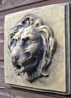 Lion Head square garden wall plaque fountain mask
